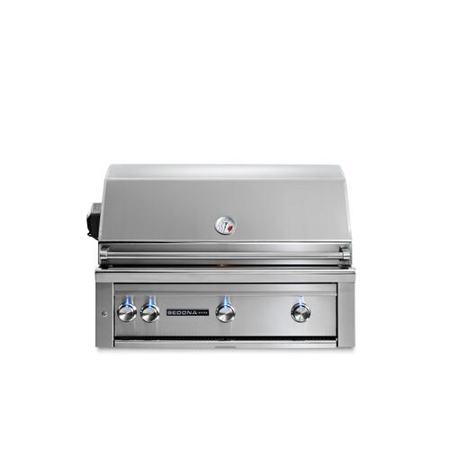 "36"" Sedona by Lynx Built In Grill with 3 Stainless Steel Burners and Rotisserie, LP"