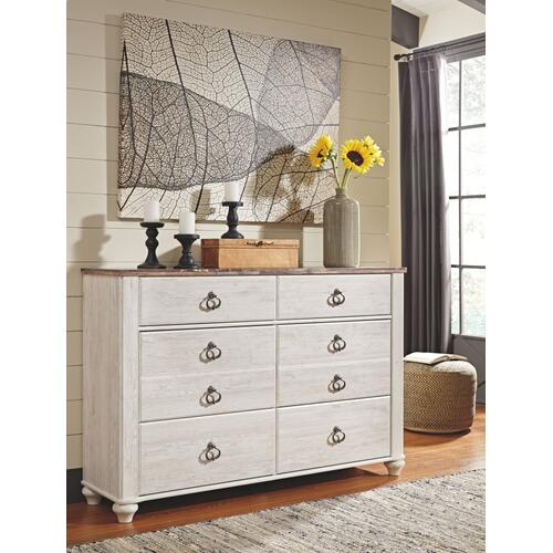 King/california King Panel Headboard With Dresser
