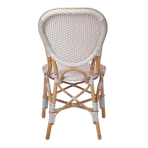 Leblanc Paris Bistro Chair, White/ Gray