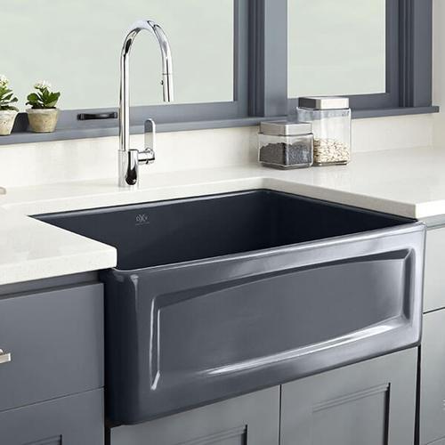 Dxv - Hillside 30 Inch Apron Kitchen Sink - Chenille Gray