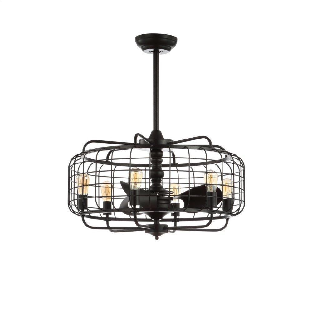 Larsin Ceiling Light Fan - Black