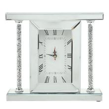 """View Product - Mirrored & Glitter Table Clock, 7.75"""""""