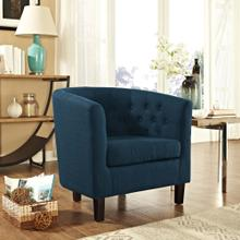 Prospect Upholstered Fabric Armchair in Azure