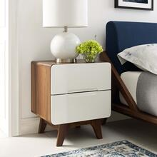 See Details - Origin Wood Nightstand or End Table in Walnut White