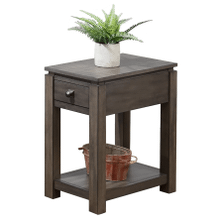 Product Image - Narrow End Table w/Drawer and Shelf - Shades of Gray