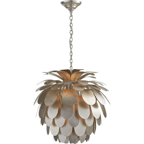 Visual Comfort CHC5165BSL E. F. Chapman Cynara 1 Light 23 inch Burnished Silver Leaf Chandelier Ceiling Light, Medium