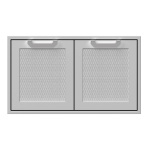 "36"" Hestan Outdoor Double Storage Doors - AGSD Series - Stealth"