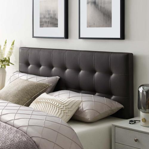 Modway - Lily King Upholstered Vinyl Headboard in Brown