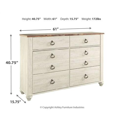 Twin Panel Bed With 1 Storage Drawer With Dresser