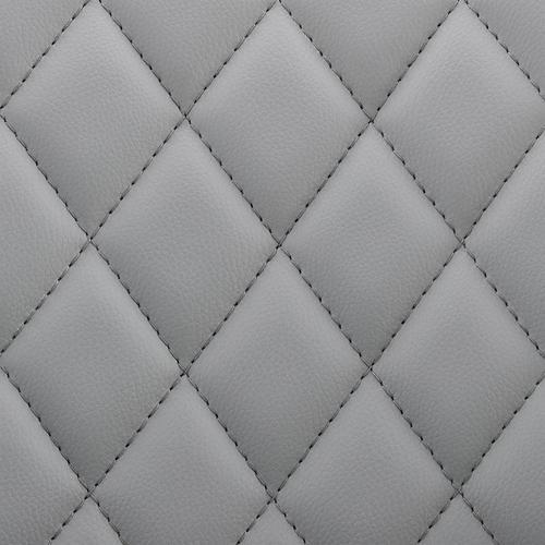 Armen Living - Leland Adjustable Grey Faux Leather and Chrome Finish Bar Stool