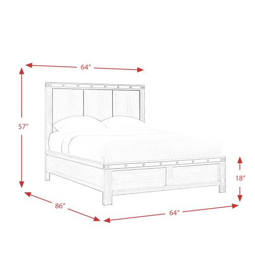 Elements - Wade Queen Panel Bed