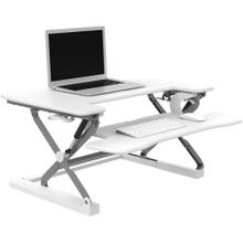 See Details - Hanover 23-In. Wide White Tabletop Sit or Stand Lift Desk with Adjustable Height for Offices, Schools, and Writing Stations, HSD0402-WHT1