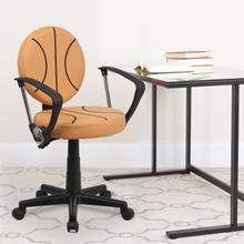 View Product - Basketball Swivel Task Office Chair with Arms