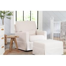 See Details - Performance Cream Eco-Weave Crawford Pillowback Comfort Swivel Glider -
