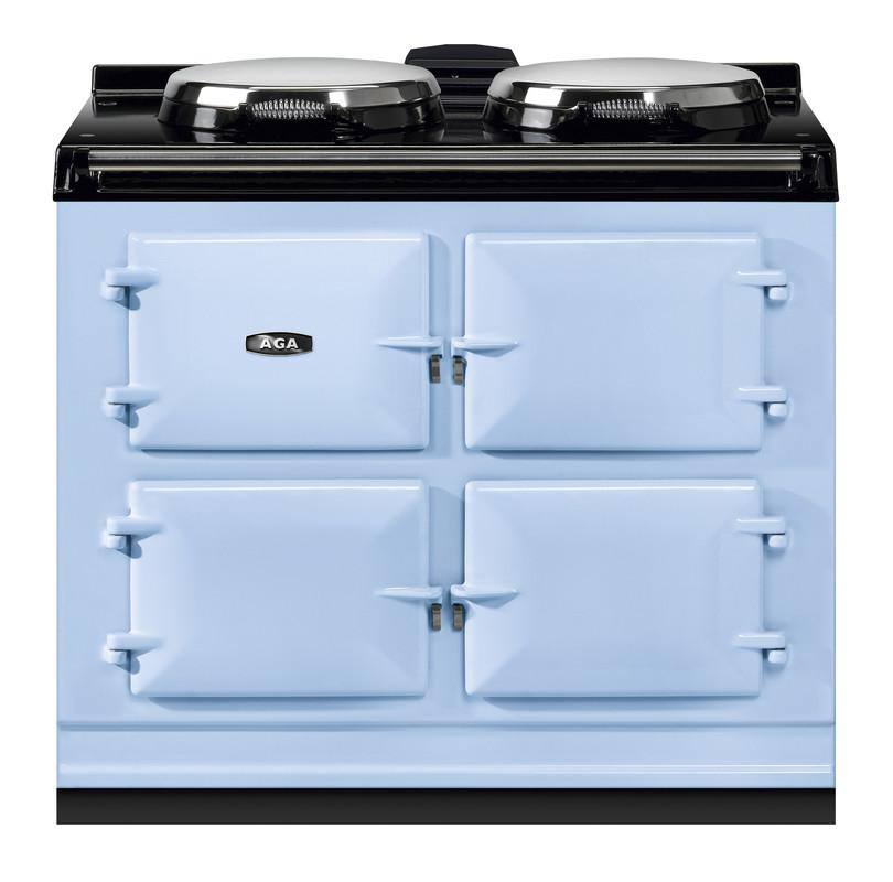 """AGAAga Dual Control 39"""" Electric/natural Gas Duck Egg Blue With Stainless Steel Trim"""