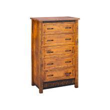 See Details - Mossy Oak Carver Point 5 Drawer Chest Natural Bark & Walnut