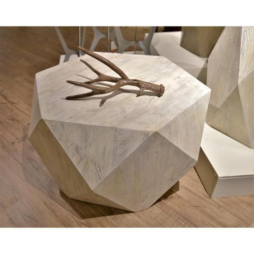 Geometric Coffee Table - Sandy White Finish