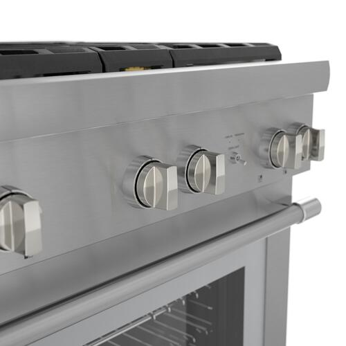 Thermador - Gas Professional Range 30'' Pro Harmony® Standard Depth Stainless Steel PRG304WH