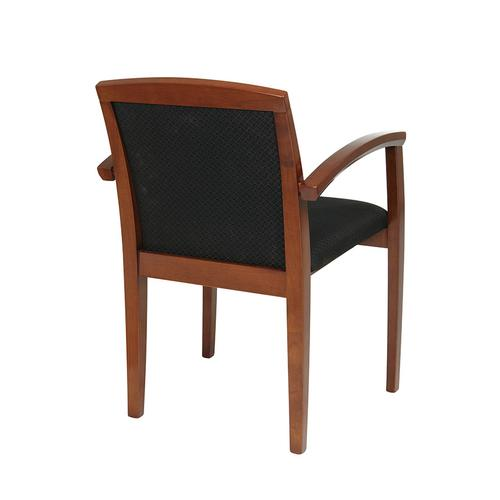 Kenwood Light Cherry Chair With Full Cushion Back, Black Fabric (4-pack)