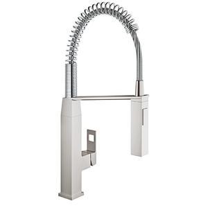 Grohe - Eurocube Single-handle Semi-pro Dual Spray Kitchen Faucet 1.75 Gpm
