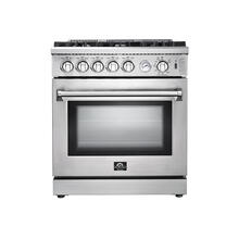 "30"" Lseo Gas Range FORNO ALTA QUALITA Stainless Steel 5 Defendi Italian Burners FFSGS6275-30"
