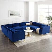 Ardent 8-Piece Performance Velvet Sectional Sofa in Navy