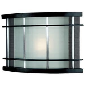 Wall Lamp, Dark Walnut/frost Glass, Fluor. Bulb Gu24 13w