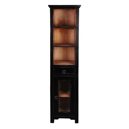 CC-CAB1924TLD-ABSV  Tall Narrow Cabinet  Antique Black