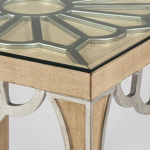 """Artmax - End Table with Glass 26x26x26.5"""""""