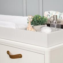 See Details - Warm White Tanner 6-Drawer Assembled Dresser