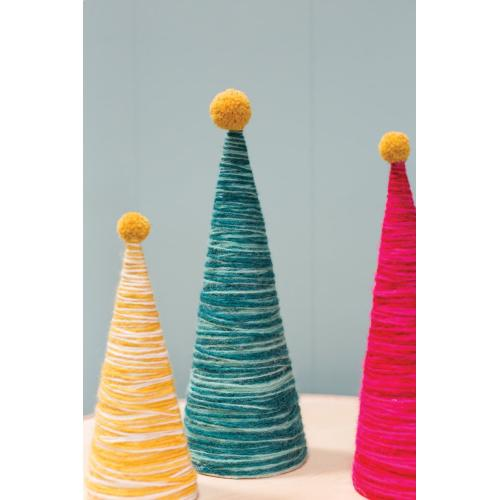 """4""""x 12.5"""" Hot-Pink Peace Topper Tree"""