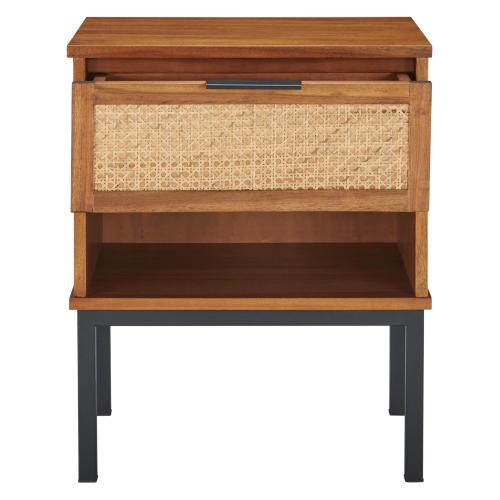 Product Image - Caine Rattan Night Stand/ Side Table, Brown