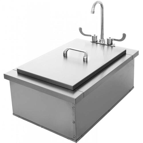 Insulated Sink with Condiment Tray, 15x24