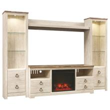 Willowton 4-piece Entertainment Center With Fireplace