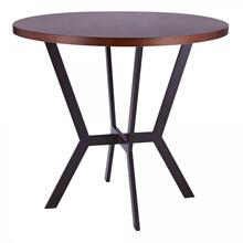 Armen Living Pike Contemporary Bar Table in Auburn Bay Finish and Sedona Wood Top