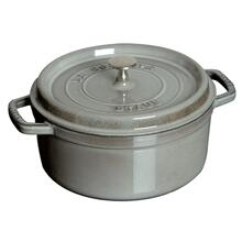 Staub Cast Iron 9-qt Round Cocotte, Graphite Grey