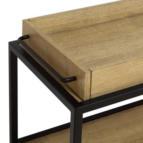 Accentrics Home - Light Oak & Iron Bar Cart