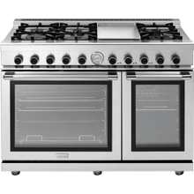 """See Details - Range NEXT 48"""" Panorama Stainless steel 6 gas, griddle and 2 gas ovens"""