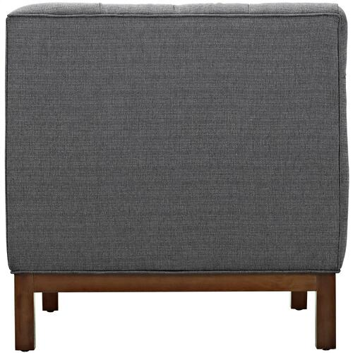 Modway - Panache Upholstered Fabric Armchair in Gray