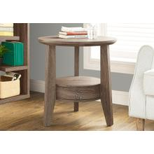 """View Product - ACCENT TABLE - 23""""DIA / DARK TAUPE WITH 1 DRAWER"""