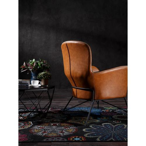 Modrest Kirk - Modern Brown Eco-Leather Accent Chair