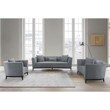 Product Image - Melange 3 Piece Gray Velvet Living Room Seating Set