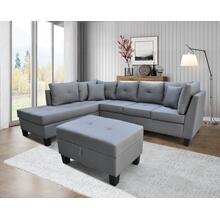 9124 Linen Sectional Sofa - LEFT
