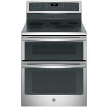 """See Details - GE Profile 30"""" Electric Freestanding Double Oven Convection Range Stainless Steel - PB960SJSS"""