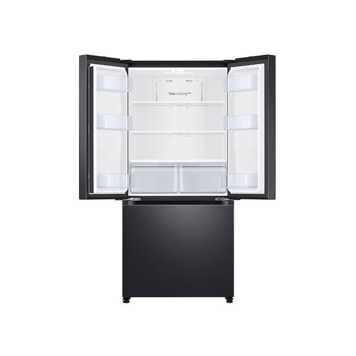 19.5 cu. ft. Smart 3-Door French Door Refrigerator in Black