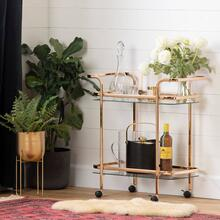Bar Cart - Gold and Glass