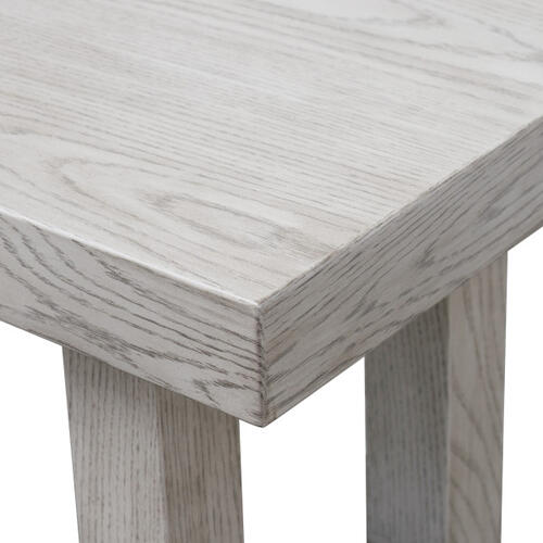 Modern Wooden Bench in Weathered Gray