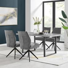 Product Image - Fenton and Charcoal Monarch 5 Piece Modern Rectangular Dining Set