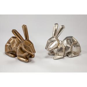 """Artmax - """"Lucky Bunny"""" Silver 16x8x13"""""""