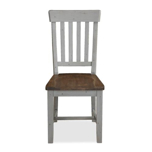 Slatted Chair With Wooden Seat